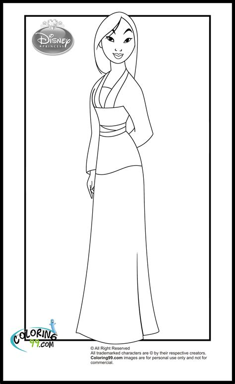 princess mulan coloring page disney princess coloring pages minister coloring