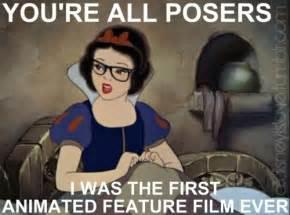 Snow White Meme - hipster disney princess meme snow white