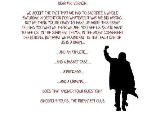 The Breakfast Club Essay by 0547d1348d4c3e2f568cebfd0ee906e6 Jpg
