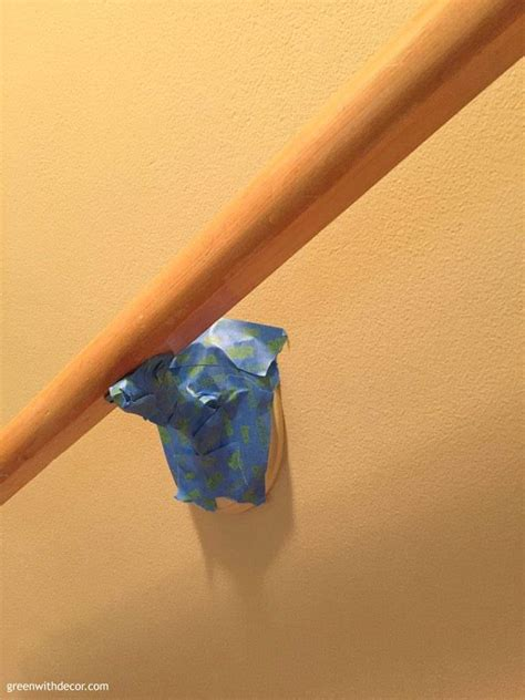 Sanding A Banister Green With Decor Paint Banister Without Taking It Off