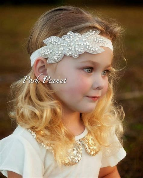 baby headband rhinestone headbandflower headband rhinestone flower headband rustic flower by