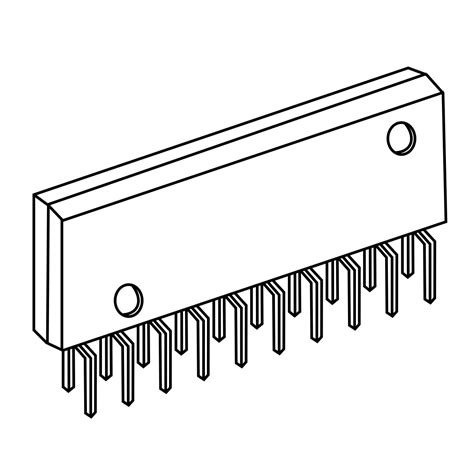 zip integrated circuit zig zag in line package
