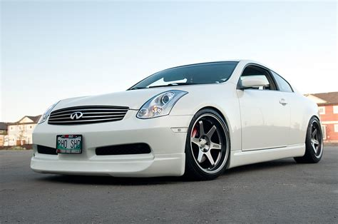 infiniti g35 upgrades 2007 ivory pearl infiniti g35 coupe 6mt pictures mods