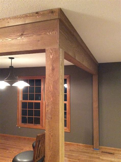 design home support need help with cedar wrap on support beams