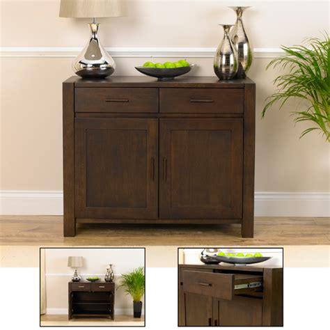 Dark Wood Dining Room Table Milan Dark Oak Small Sideboard 14050 Furniture In Fashion
