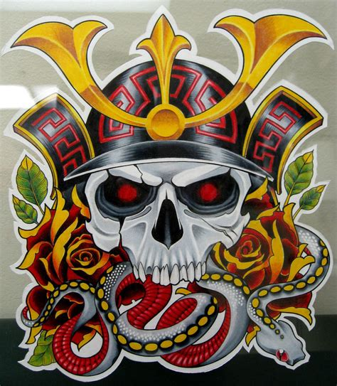 samurai skull by grizzlygreeneyes on deviantart