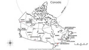 canada map with capitals labeled geography