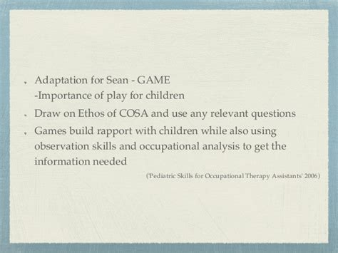 Occupational Therapy Adhd Case Study Assessment