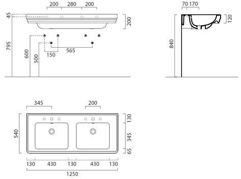 lavabo bagno dimensioni dimensions lavabo