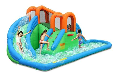 best backyard water slides the best inflatable water slides for your backyard