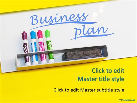 business plan template powerpoint free free business plan yellow ppt template