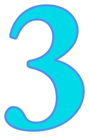 Availible by Number 3 Cyan Signs Symbol Alphabets Numbers Color