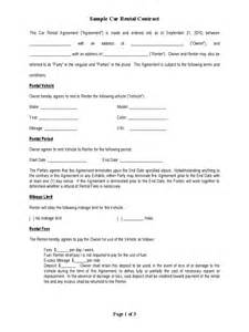 Simple Car Rental Agreement Template Word Car Rental Form 2 Free Templates In Pdf Word Excel