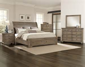 Gray Bedroom Set Vaughan Bassett Barley Run Rustic Gray Bedroom Collection
