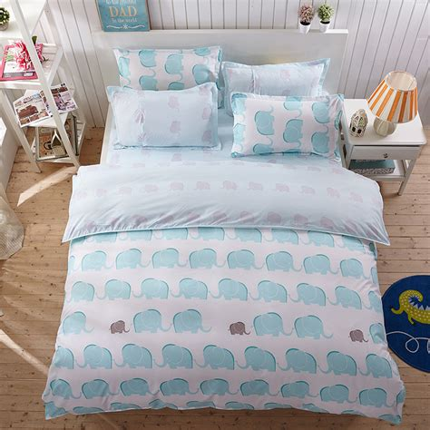 cute pattern bedding elephant sheets queen promotion shop for promotional