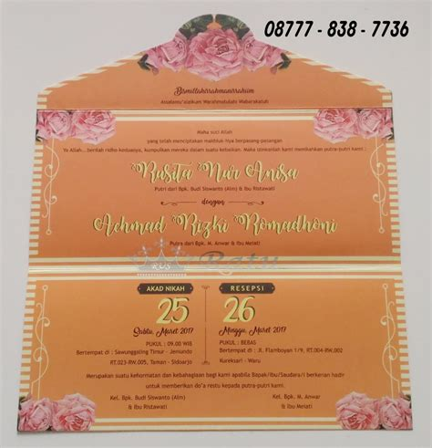 Kartu Undangan Pernikahan Model Kartu Pos undangan kartu pos undangan model unik ratu undangan