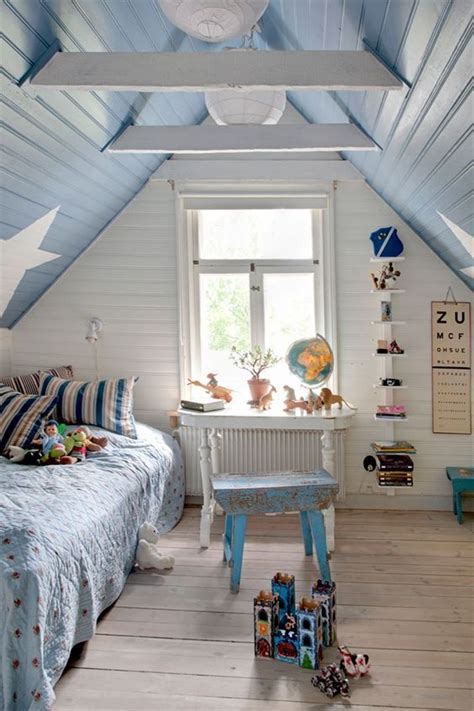 shabby chic boys bedroom 30 cozy attic kids rooms and bedrooms shelterness