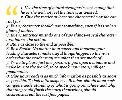 Kurt Vonnegut Essay by Kurt Vonnegut 8 Essential Elements Of A Story