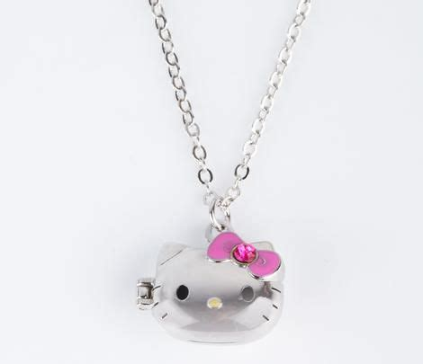 Hello Pink Necklace hello die cut locket necklace pink