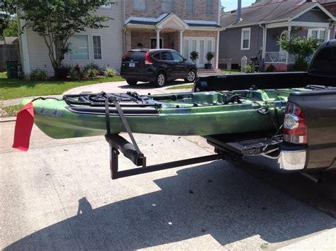 jon boat in truck bed canoe and kayak hauling tacoma world