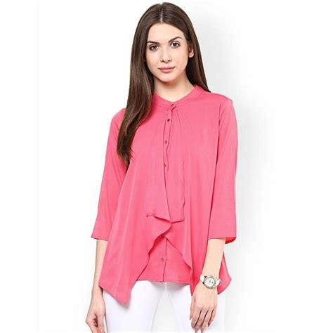 Casual Top casual 3 4th sleeve solid pink top best offer