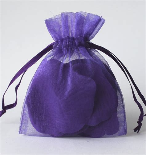 100 purple organza bags sheer favor bags organza jewelry