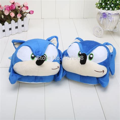 sonic the hedgehog slippers 40pair lot 11 sonic the hedgehog soft plush slippers