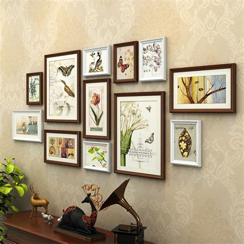 12 pcs reality wood picture photo frame wall set art work europe style 12 pcs set wooden photo frame set photo