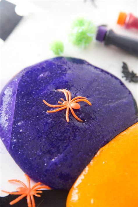 easy halloween slime recipe idea  kids