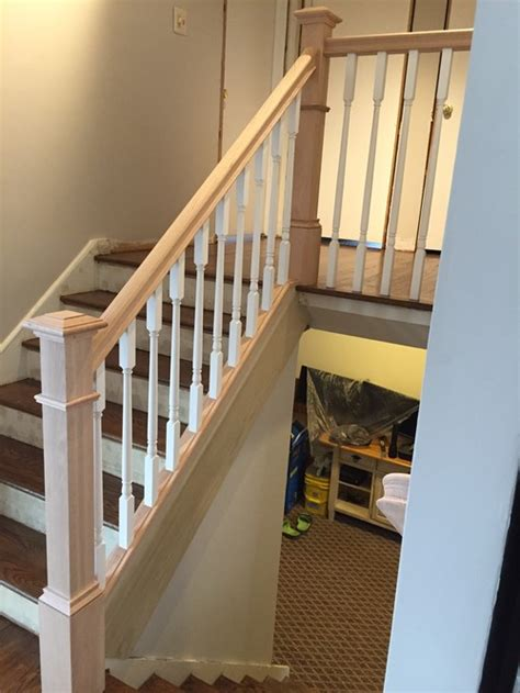 stripping paint from wood banisters stain or paint new poplar railing