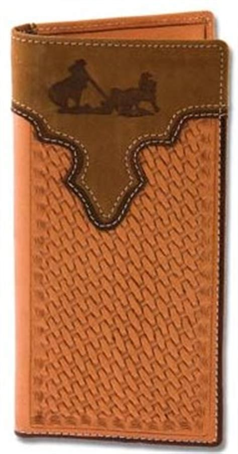 leather roper wallet pattern western leather team roper wallet checkbook holder