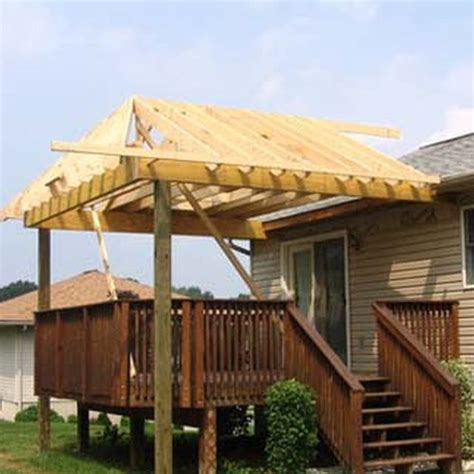how to build a roof a deck outdoor spaces the o