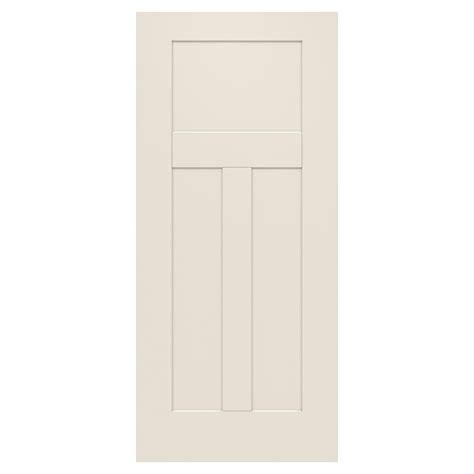 36 X 79 Exterior Door Jeld Wen 36 In X 79 In 3 Panel Craftsman Primed Steel Front Door Slab Thdjw166100393 The