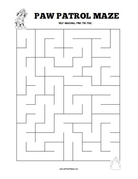 printable learning mazes paw patrol maze all free printable pinterest paw