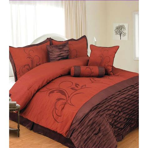 chocolate and burnt orange comforter set sets home design