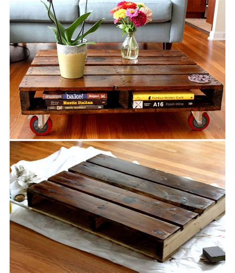 creative diy home decor diy pallet coffee table diy home decor ideas on a budget
