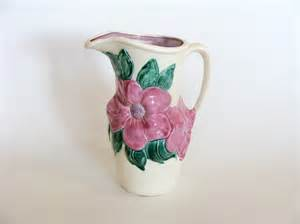 items similar to mold pottery pitcher vase signed
