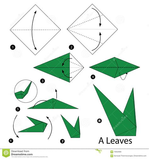 How To Make Origami For - step by step how to make origami a leaves
