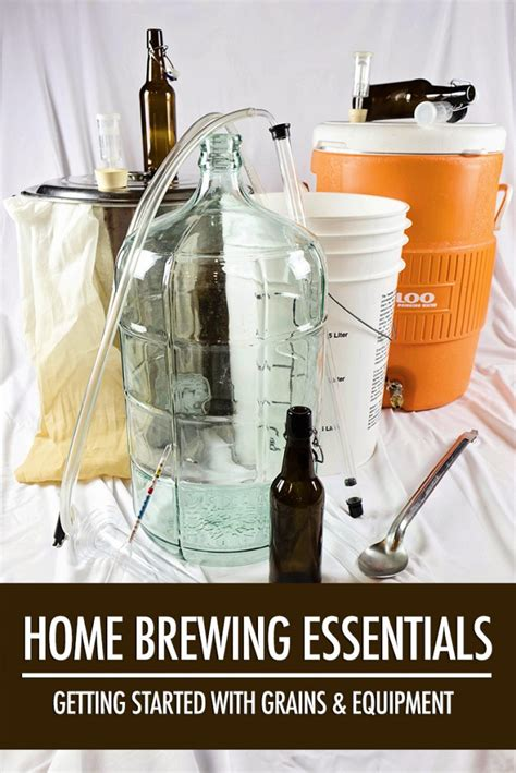 home brewing essentials grains and equipment food