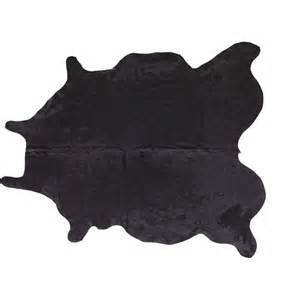 Cowhide Shaped Rug Cowhide Black Rug 5 X8 Cb2