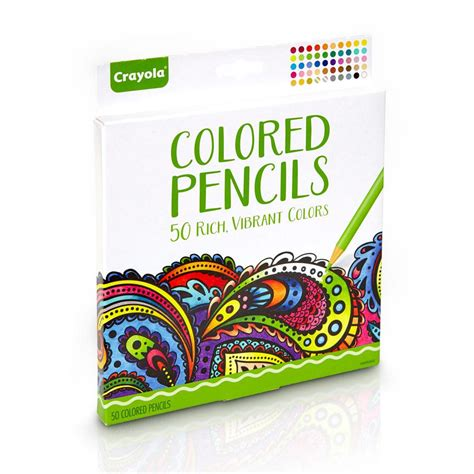 colored pencils for coloring books crayola colored pencils 50 count pre sharpened non