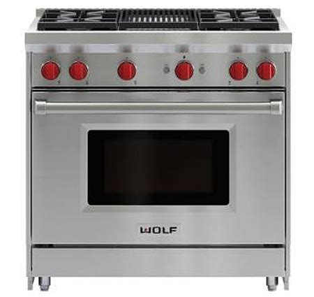 wolf gr364g wolf 36 quot stainless steel gas range with griddle gr364g