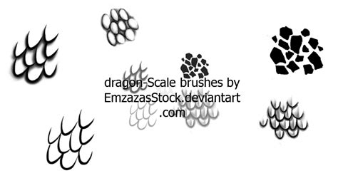 pattern brush scale scales brushes by dark dragon stock on deviantart