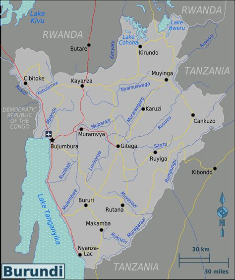 burundi in world map map of burundi overview map worldofmaps net