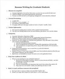 Resume Templates For College Graduates by Sle College Graduate Resume 8 Free Documents In Word Pdf