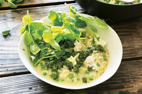 Garlic Pesto Recipe River Cottage by Risi E Bisi With Pea Shoot Pesto Wyza Australia