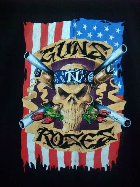 Tshirt Guns N Roses 2 guns n roses 2 sided 1991 1992 t shirt brockum guns and