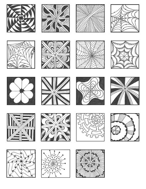 free download scales style pattern sheets zentangle free download grid style pattern sheets zentangle