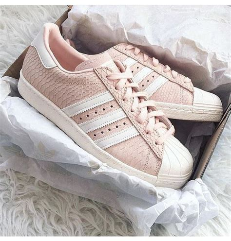 shoes pastel pink adidas superstars adidas originals wheretoget