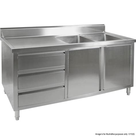 Tidy Premium Stainless Steel Cabinet With Double Sinks Doors | kitchen tidy premium stainless steel cabinet with double